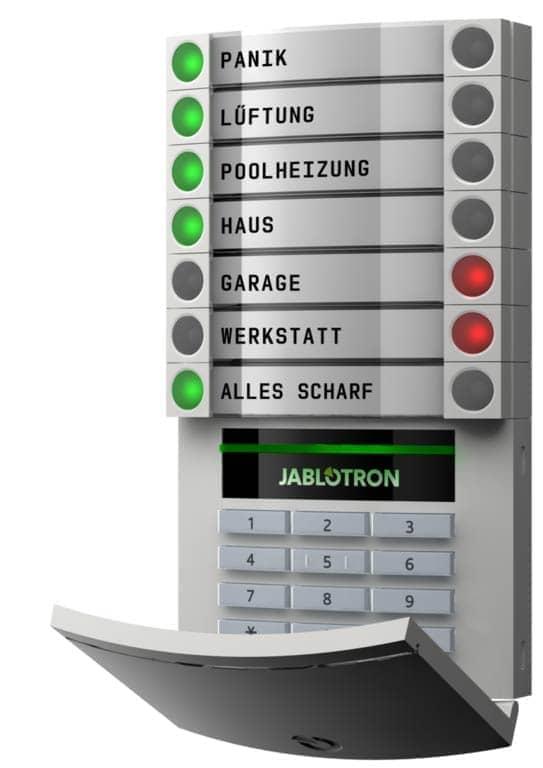 Bedienungselement - Steuerzentrale Alarmanlage Jablotron 100