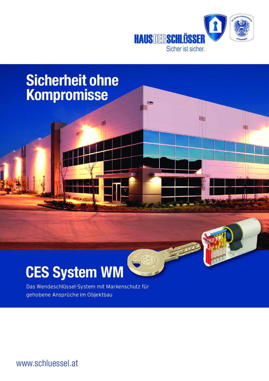 Abbildung Schlüssel- & Schloßsystem CES WSM