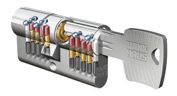 Abbildung Schließanlage - Schlüsselsystem Winhaus ZRV ergonomisch